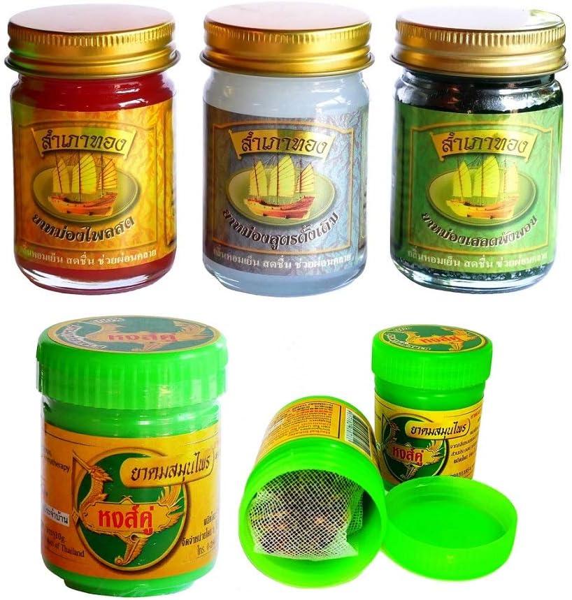 Original thailändische Salben aus Pflanzen im 6er-Set