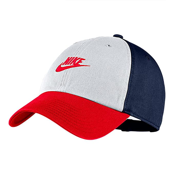 430d3a6a9f738 NIKE  913011-102  Unisex Sportswear H86 Cap White Midnight Navy RedNew