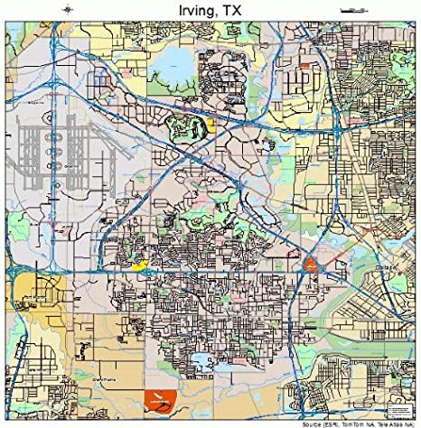 Amazon Com Large Street Road Map Of Irving Texas Tx Printed