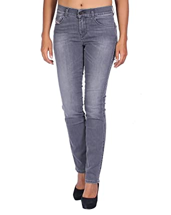 beb596da Diesel Sandy 0844I Stretch Women Jeans Pants Slim Straight: Amazon.co.uk:  Clothing