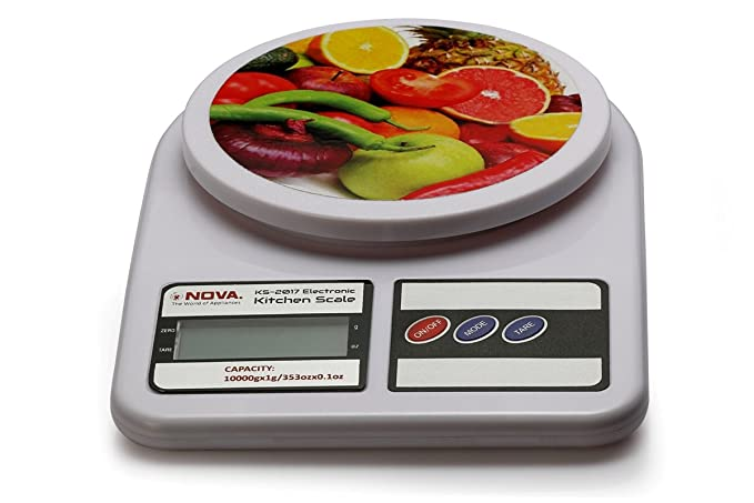 Buy Nova KS-2017 Electronic Digital Kitchen Weighing Scale (Milky ...