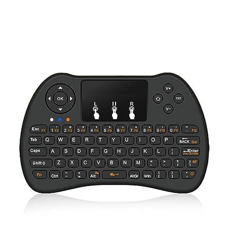 Mini-Teclado Inalámbrico H9 2.4Ghz Recargable con Mini Gestos Touchpad para Android TV BOX