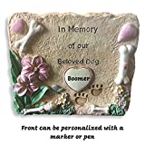 Banberry Designs Pet Memorial Garden Stone - In Memory of our Beloved Dog - Dog Memorial Stone - Sympathy Gifts