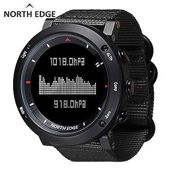 Unisex Health Fitness Smart Watch Relojes deportivos digitales Led Back Light para NORTH EDGE Reloj deportivo para hombre Reloj digital Horas de running ...