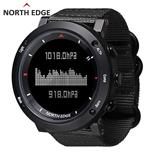 Unisex Health Fitness Smart Watch Relojes deportivos digitales Led Back Light para NORTH EDGE Reloj deportivo para hombre Reloj digital Horas de running ...