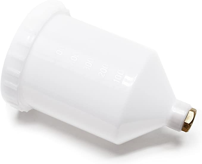 2Pcs parte di connettore filettato Fastmover della pistola della tazza di aerografo della pistola della vernice di spruzzo di plastica