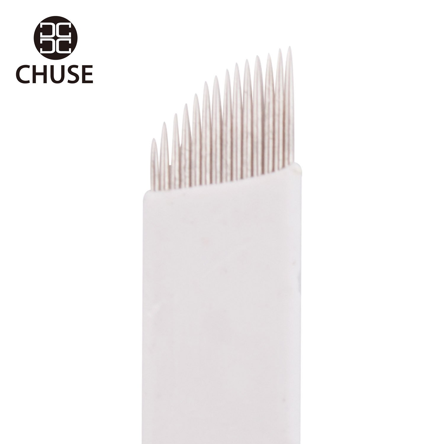 Chuse Maquillage Micro Needling Sourcils permanent Aiguilles Tattoo Manuel Micro lame S14 50pcs / boîte 14 microblading pente