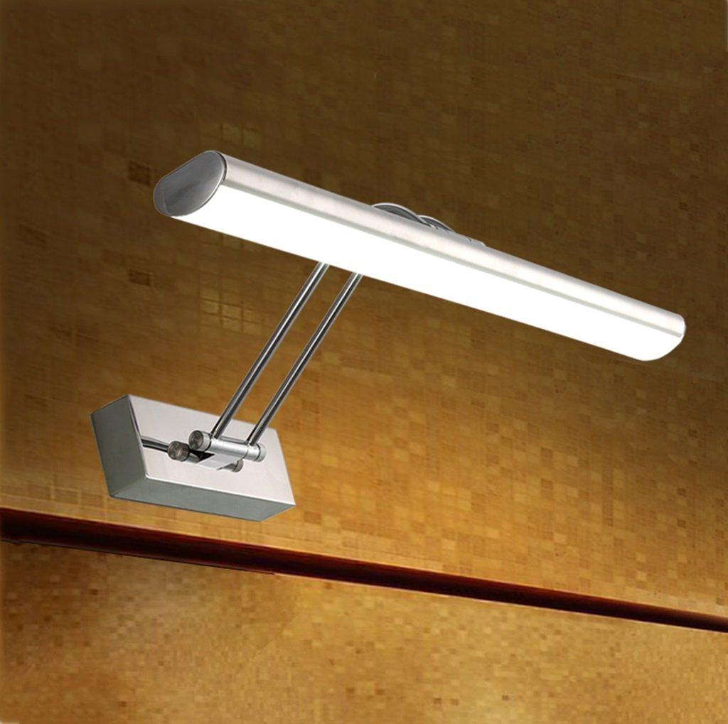 badezimmerlampe LED-Spiegel-Scheinwerfer ohne lochendes modernes Edelstahl-justierbares Badezimmer-Badezimmer-Spiegel-Kabinett-Licht Schminklicht (Größe   45cm)