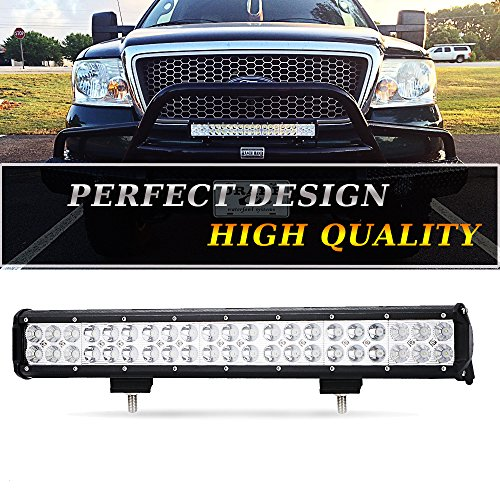 TURBOSII 20In Flood Spot Combo Led Light Bar Reverse Backup Driving Fog lights Fits Bumper Bull Bar Grill For Dodge Ram Tractor Truck Boat 4 Wheeler Ford Polaris Ranger RZR Jeep Golf Cart 4x4 UTV ATV (Silverado Chevrolet Bumper 1500 Rear)