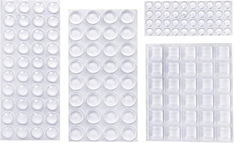 Selbstklebender Fuß H 7,9mm transparent Polyurethan 40 st