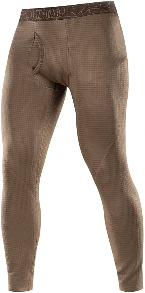 Mens Bottoms Thermal Underwear for Men Fleece Lined Compression Pants Base Level 2