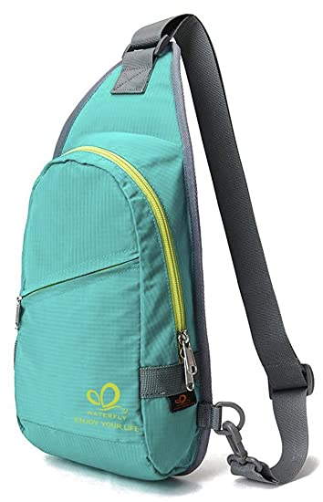 Amazon.com : WATERFLY Mini Sling Chest Bag Small Single Shoulder ...