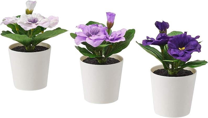 6 Cm Ikea Lot De 3 Fejka Mini Artificielles Pour Bureau Plantes En Pot