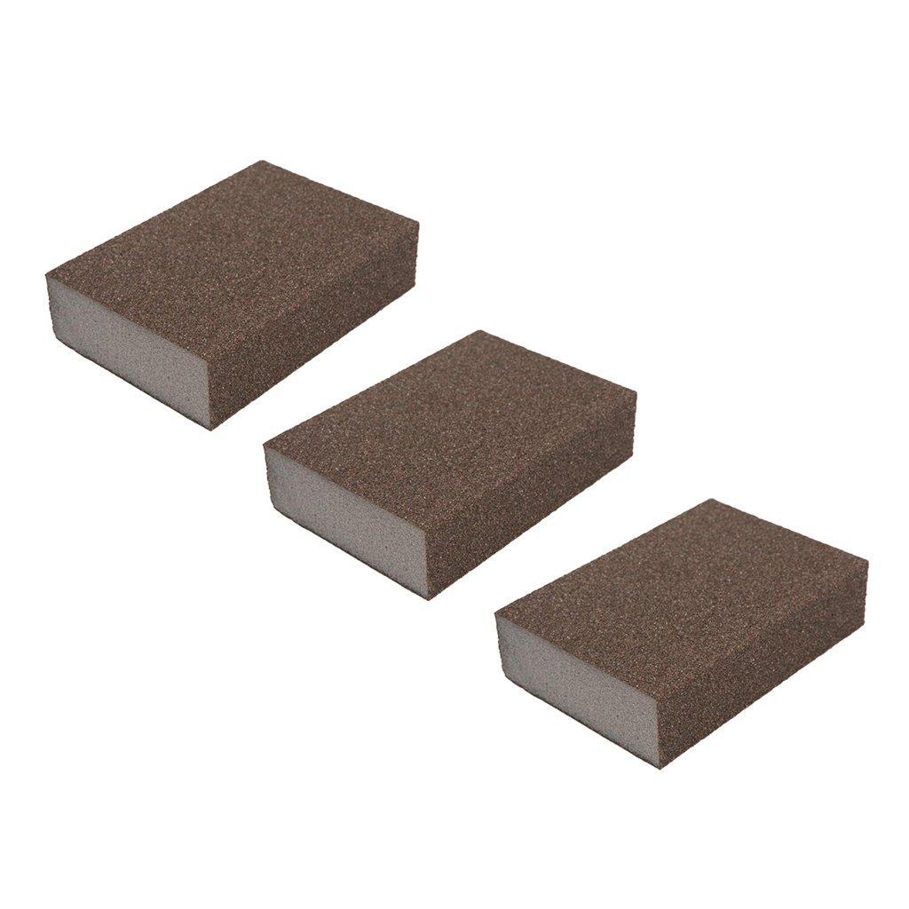 Baoblaze 3pcs Eponges Abrasifs Grain /Éponges /à Poncer Papier de Verre Polissage Abrasif Couleur #180