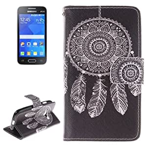 National Style Windbell Pattern Double Sided Print Leather Case with Holder & Card Slots & Wallet for Samsung Galaxy Ace NXT / G313H