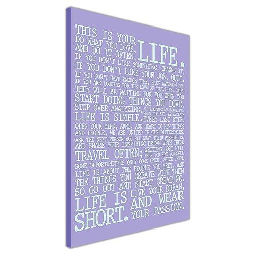 Life Quotes On Canvas Amazon Co Uk