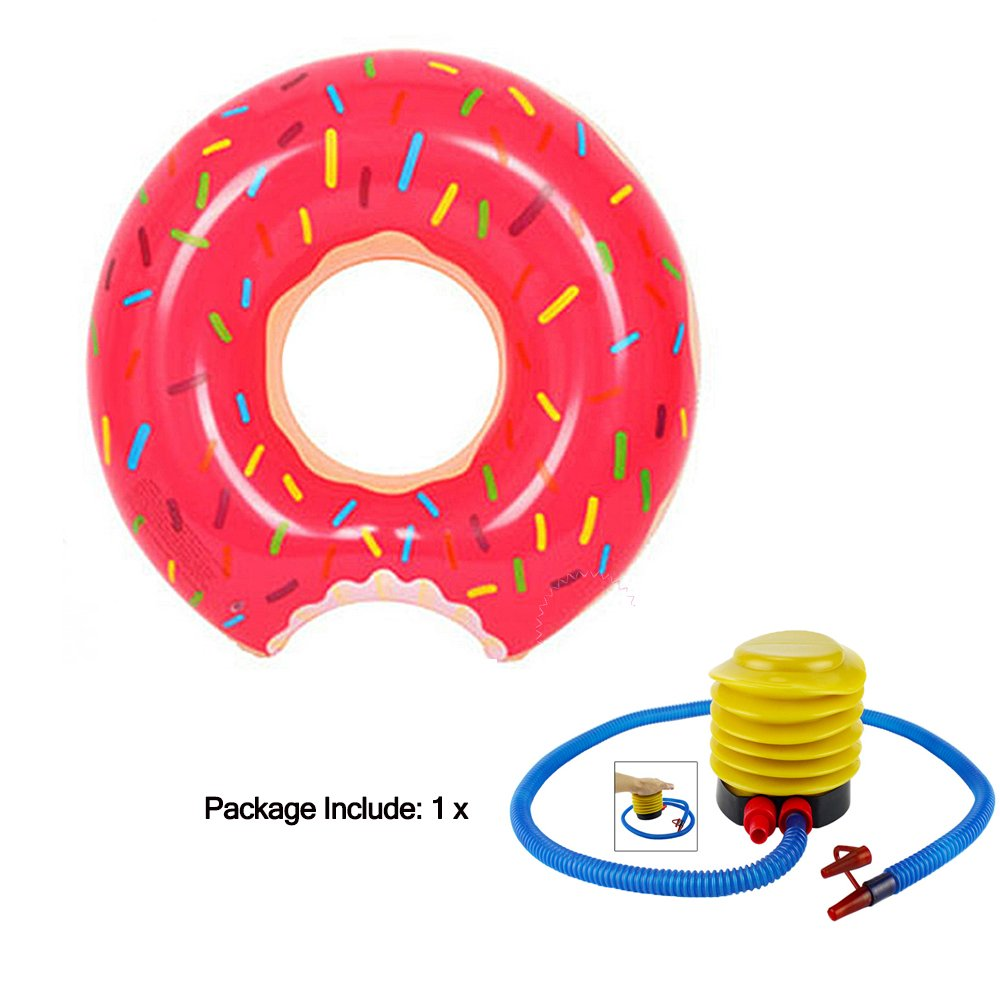 Amazon.com : Sealive 60cm Inflatable Pool Floats for Kids, Donuts Pool Float Swimming Ring Donut Party Supplies Pool Beach Toys Donut Decorations : Baby