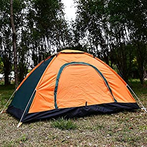 Auntwhale 3 Person Camping Tent Automatic Pop Up Waterproof Tent Sun Shelters with Carry Bag for Picnic, Hiking, Fishing…