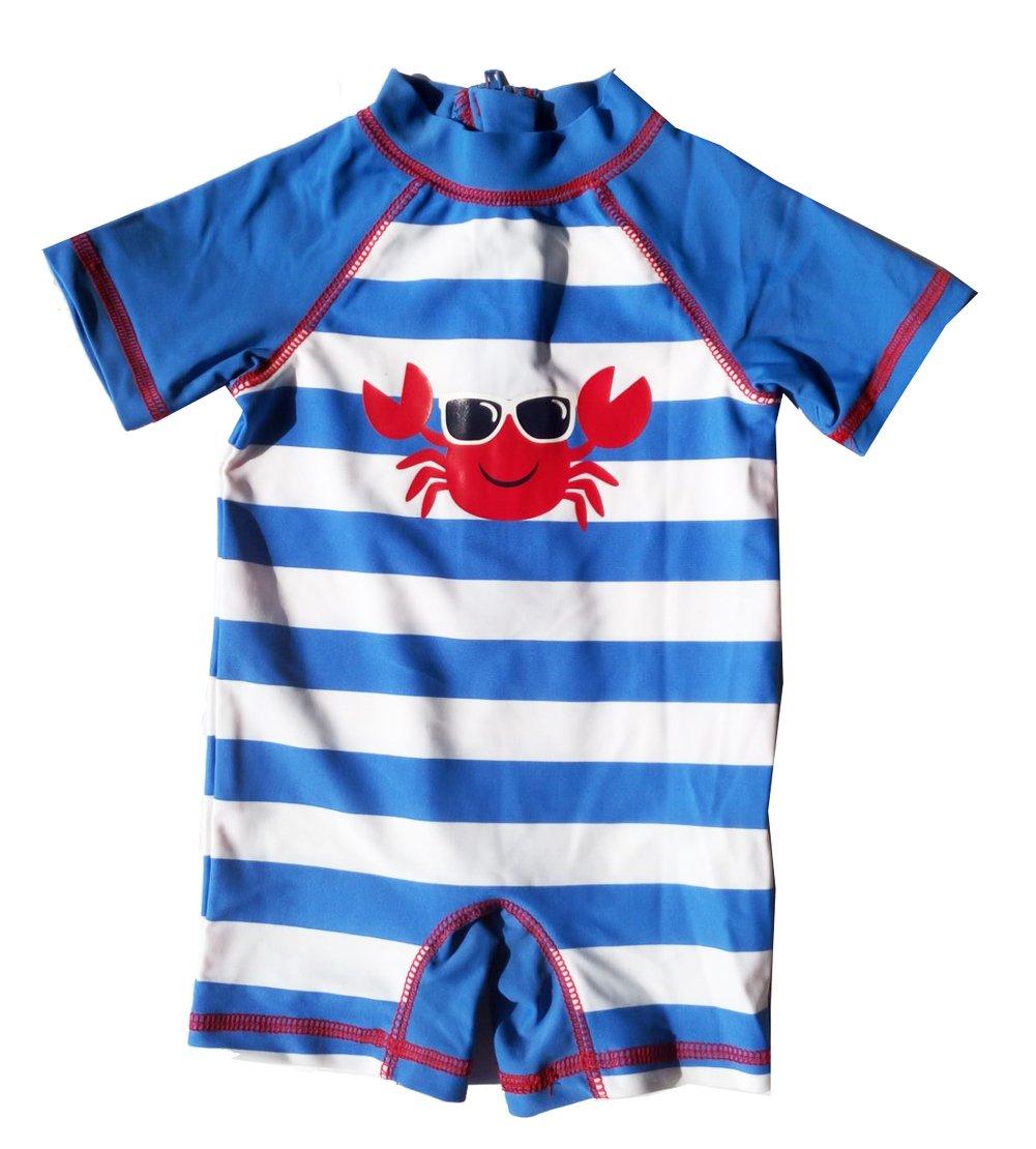 Fashion Baby Infant Baby Boys Sunsuit One Piece Ruash Guard Swimwear Swimsuit