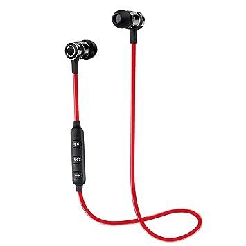 Auriculares Bluetooth, CHXYGOING Auriculares Inalámbricos Bluetooth 4.1 magnéticos y deportivos Estéreo Auriculares en la oreja con Micrófono para IOS, ...