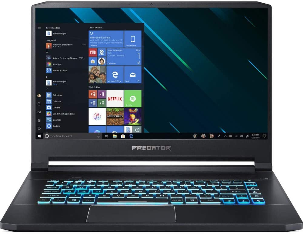 "Acer Predator Triton 500 15.6"" Intel i7-9750H 2.6GHz 16GB Ram 512GB SSD Win10Pro (Renewed)"