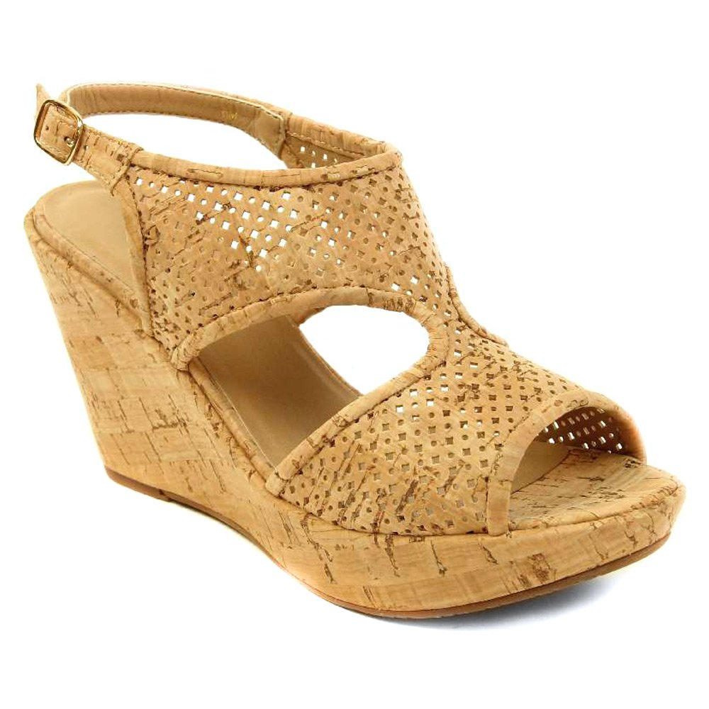 VANELi Women's Eleni Sandals B0113P73F0 9.5 B(M) US|Natural Cork/Gold Buckle
