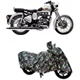 PEony Jungle Print Two Wheeler Cover for Royal Enfield Classic 350 (Water Resistant)