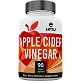 EBYSU Apple Cider Vinegar Capsules - Extra Strength Appetite Suppressant Pills for Weight Loss - Cleanse & Detox Diet Supplement for Men and Women - ACV