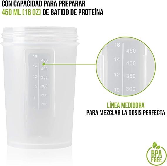 Shaker Gym Bottle   Coctelera para batidos de proteínas con doble compartimento   Sport Protein Mixer Cup sin BPA   Botella mezcladora para gimnasio ...