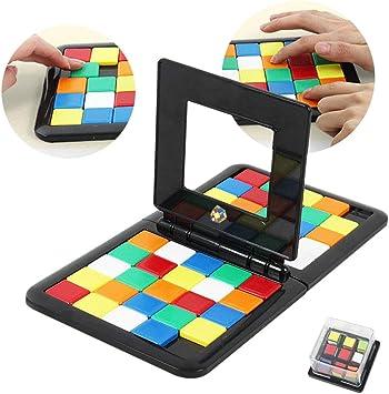 Juego de mesa de color para padres y niños, rompecabezas de doble juego con forma de cubo, divertido rompecabezas para fiestas familiares, juguetes mágicos, multicolor: Amazon.es: Bricolaje y herramientas