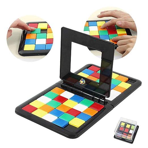 Juego de mesa de color para padres y niños, rompecabezas de doble ...