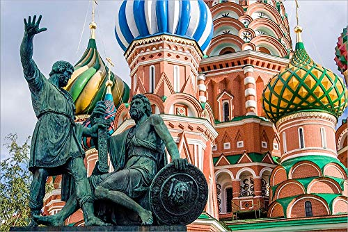- Monument to Minin and Pozharsky St Basil's Basilica Red Square Moscow, Russia by Tom Norring/Danita Delimont Laminated Art Print, 24 x 16 inches