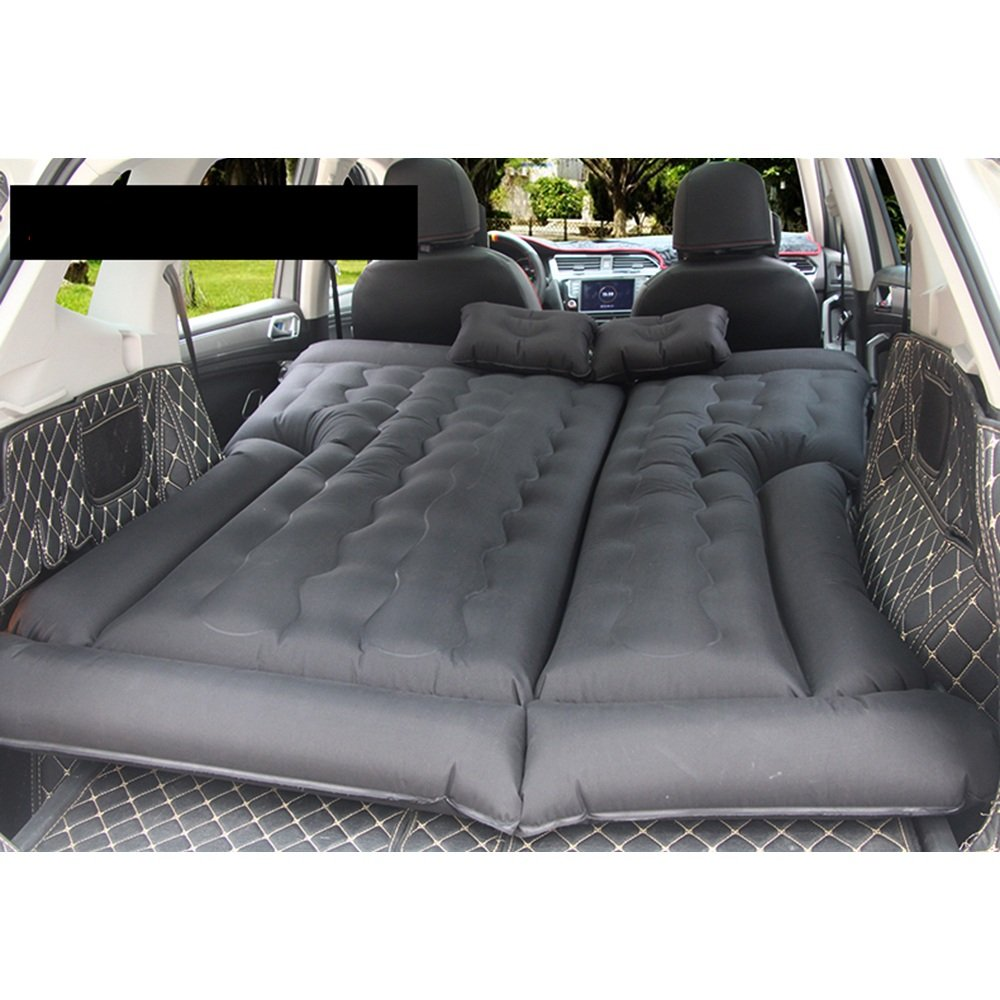 YQQ Camping Aufblasbares Kissen Selbstfahrendes Reisebett Auto Aufblasbares Bett Camping Im Freien Tragbar Luftmatratze (Farbe : SCHWARZ)