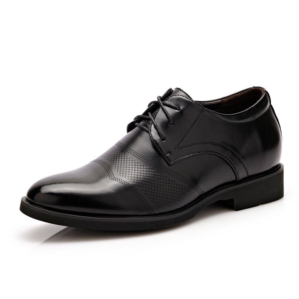 Lederschuhe Herren Lederschuhe Klassische Formale Höhe Zunehmende 6cm Breathable Business Oxfords für Herren Black