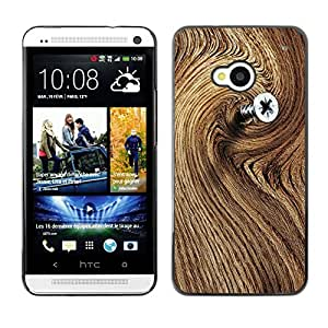 Hot Style Cell Phone PC Hard Case Cover // M00103258 wood photos brown // HTC One M7