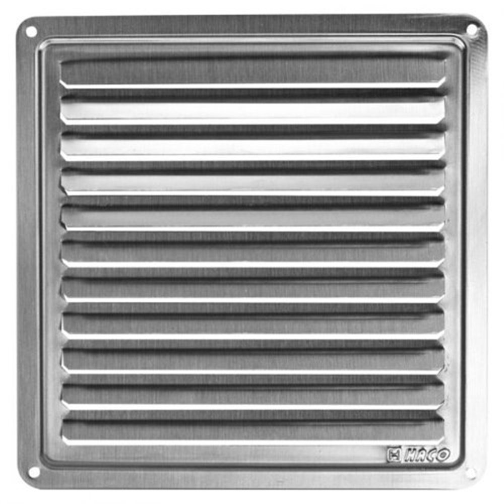 Ventilation Grille / Exhaust Air Grill Stainless Steel 155 x 155 mm Access Panels UK 8590229001541