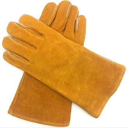 Soldadores guantelete Soldadura de cuero multifuncional de color amarillo puro Soldadura Guantes para ARCO MIG TIG