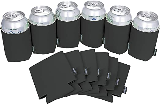 100 NEON Collapsable Can Coozies Blank Lot NEW Screen print Birthday