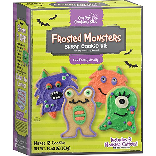 Crafty Cooking Kits Frosted Monsters Kit, Sugar Cookie, 10.68 Ounce (Monster Halloween Cookies)
