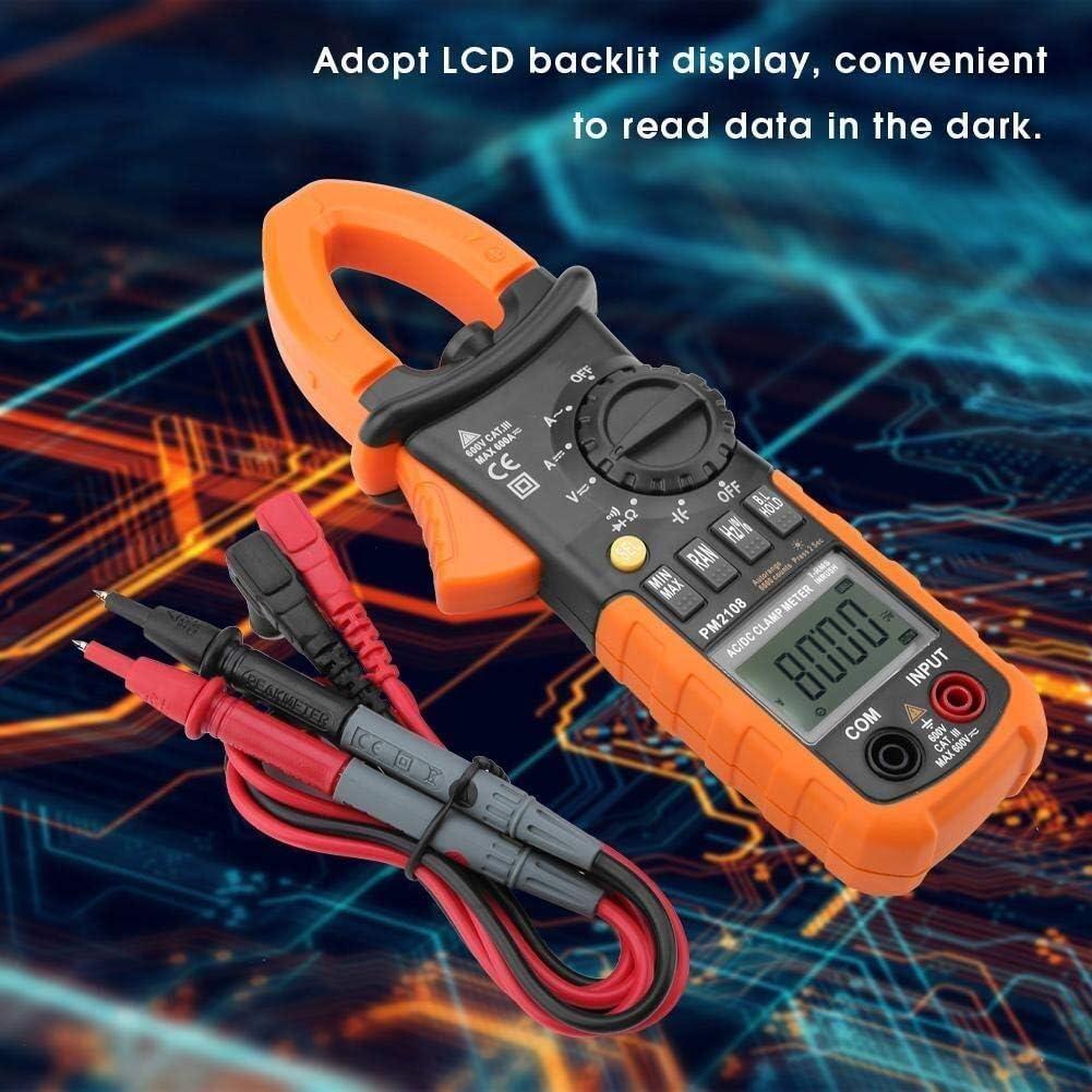 PM2108 Portable Digital AC//DC Clamp Meter Multimeter Current Voltage Resistance Teste Resistance Meter GUOCAO Handheld Clamp Multimeter