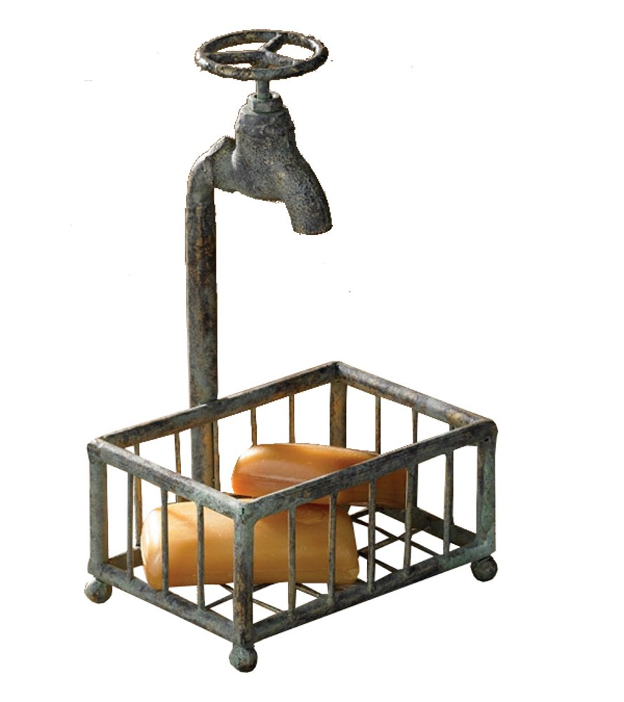 Amazon.com: Park Designs Water Faucet Soap Holder Green Patina: Home ...