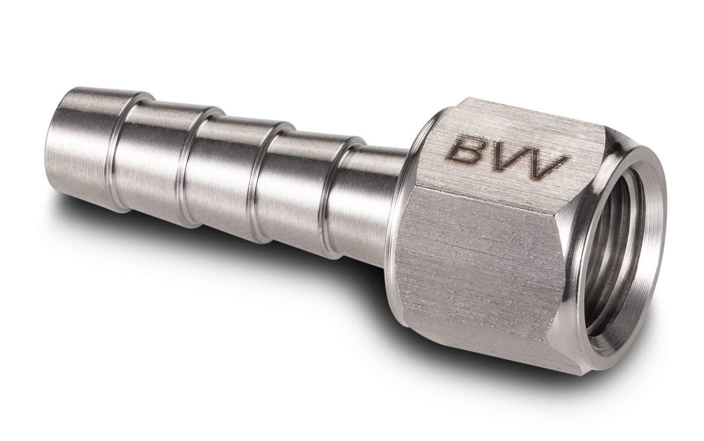 BVV Vacuum Pump 1//4 Barb x 1//4 Flare Adapter