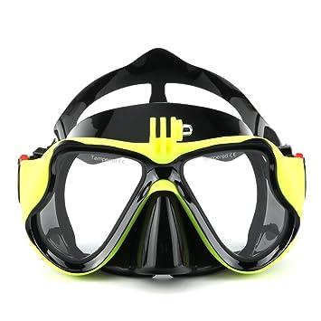 ad6240ce47865 VILISUN Tauchmaske/Taucherbrille mit Schnorchel für Kinder und Erwachsenen,  Anti-Leck & Anti