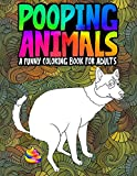 Pooping Animals: A Funny Coloring Book for