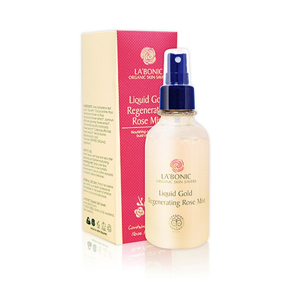 Face-Mists Liquid Gold Regenerating Rose Mist 125g Certified 97.4% Organic Ingredients
