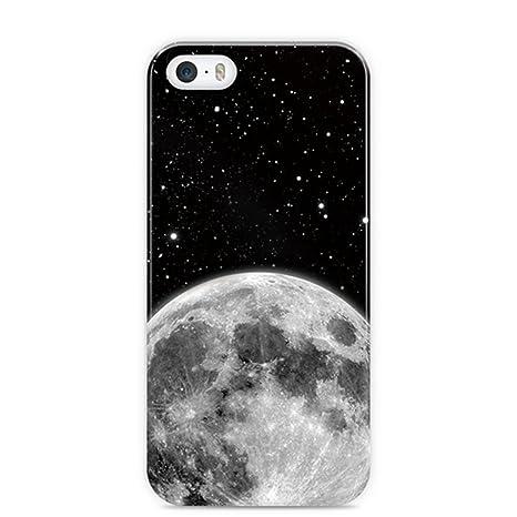 Ostri Cover Per Iphone 5s Motivo Luna E Stelle Sullo Sfondo