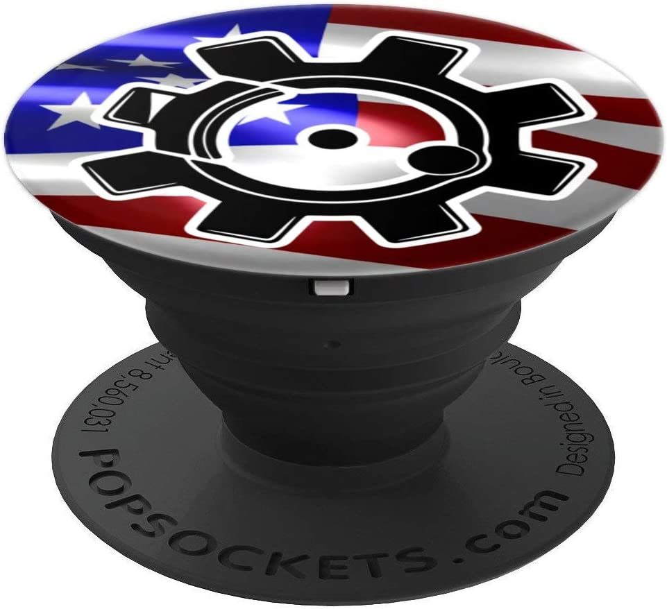 Amazon Com Ar15 Bolt Face With Us Flag Popsockets Grip And Stand For Phones And Tablets