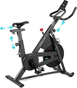 OVICX Stationary Spin Bike with Magnetic Resistance Exercise Bikes Indoor Cycling Bike Fully Adjustable Comfortable Seat and Handlebar for Home Cardio Workout