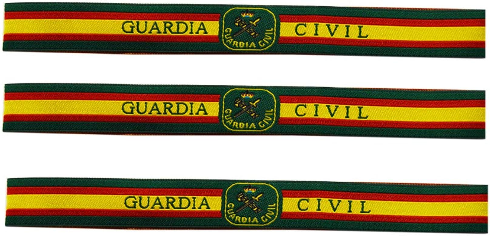ALBERO 3 x Pulsera de Tela Guardia Civil. España 30 x 1.50cm ...