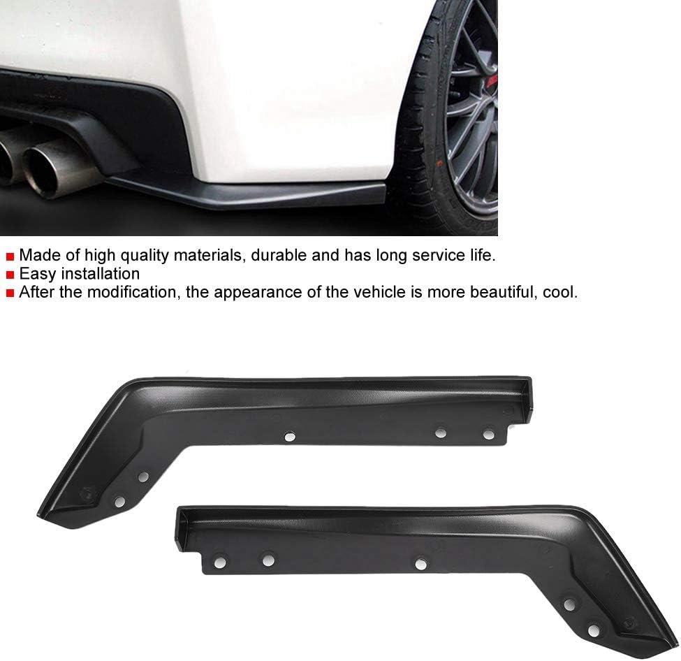 Black Rear Spoiler,2 Pcs Car Plastic Rear Spat Back Corner Cornerite Plate Fit for 2015-2016 WRX STi
